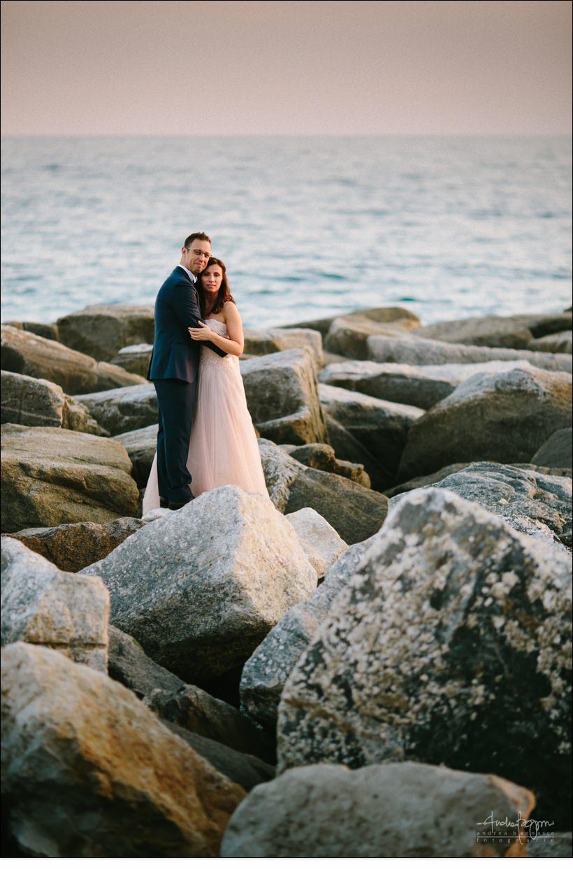sposi scogli mare matrimonio mare liguria