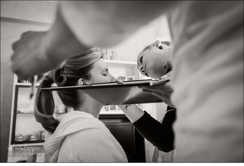 make up preparazione sposa