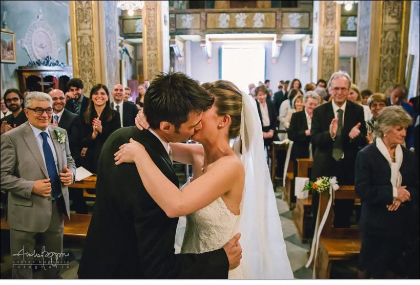 bacio sposi matrimonio varazze