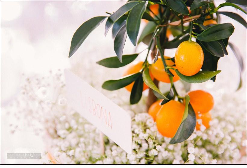 dettaglio centro tavola matrimonio arancini villa lagorio