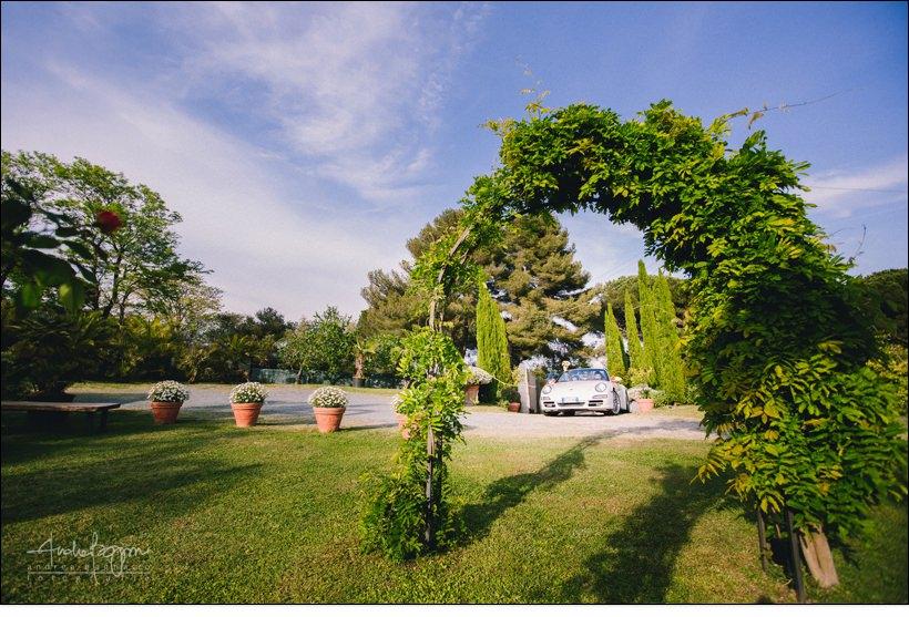 ingresso sposi orangerie villa lagorio porsche
