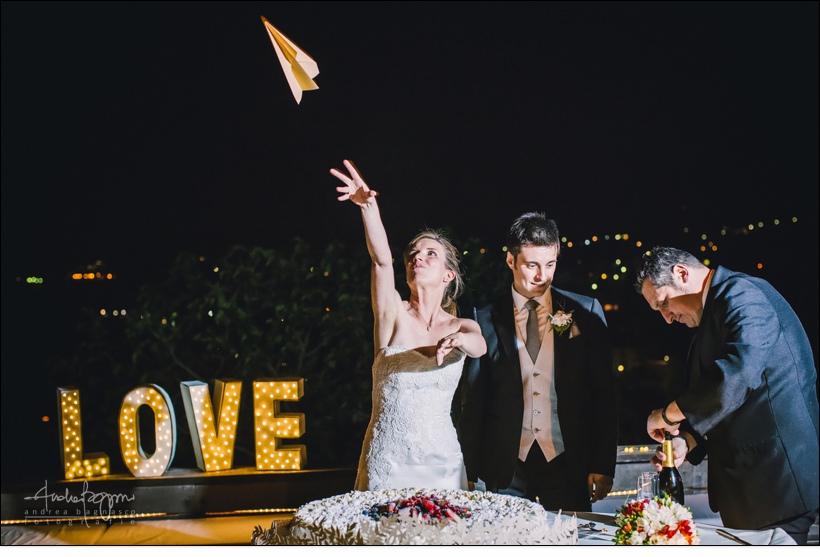 aeroplani carta sposi matrimonio