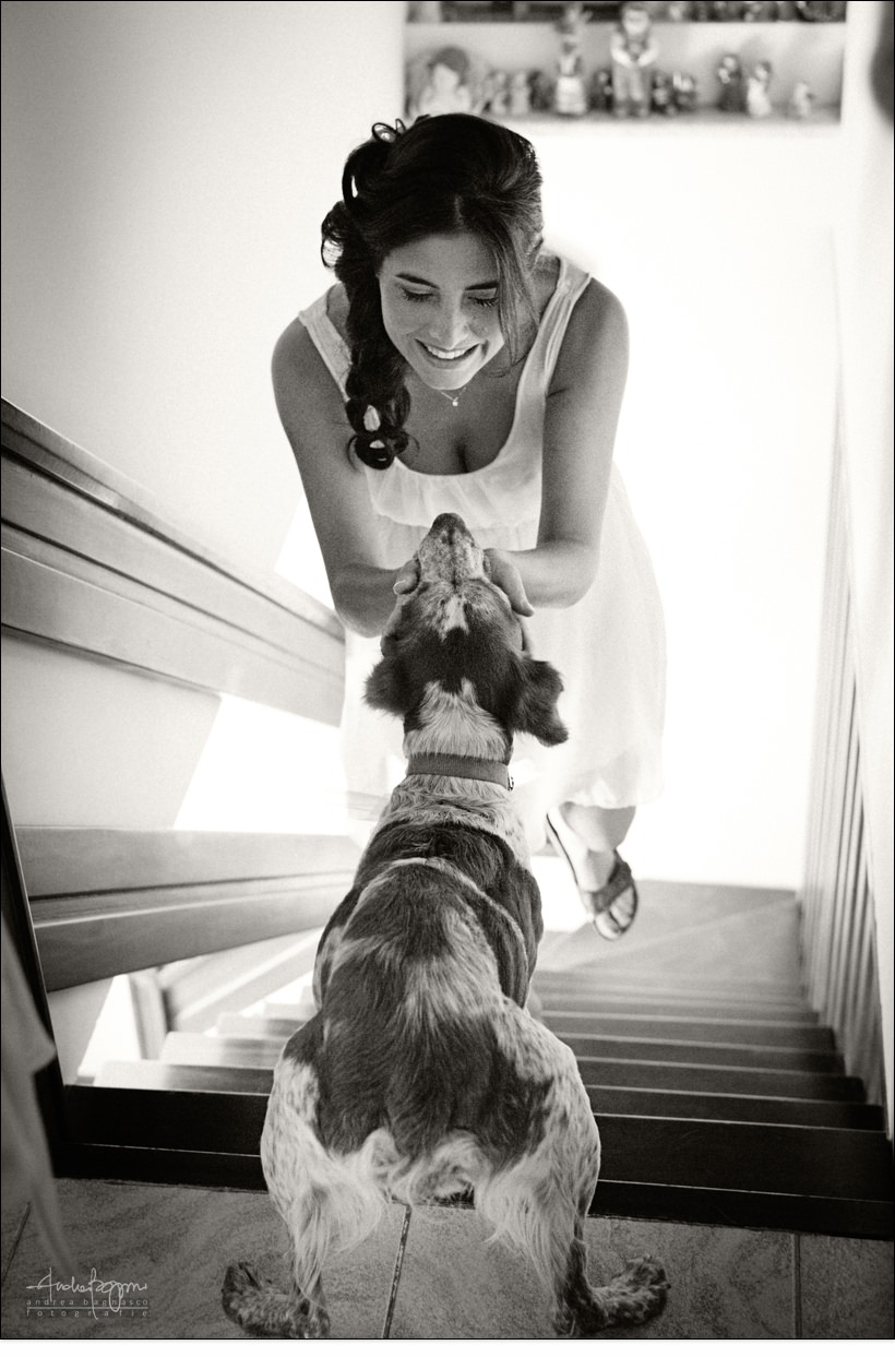 sposa genova cane matrimonio