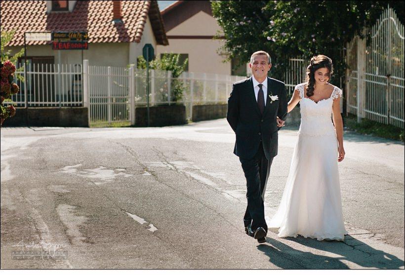 arrivo sposa reportage matrimonio