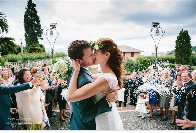 bacio sposi matrimonio san giacomo santa margherita