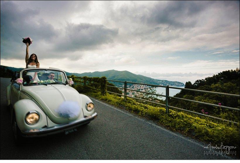 fotografo matrimonio noli savona maggiolone