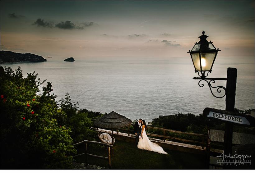 ritratto sposi mare isola bergeggi
