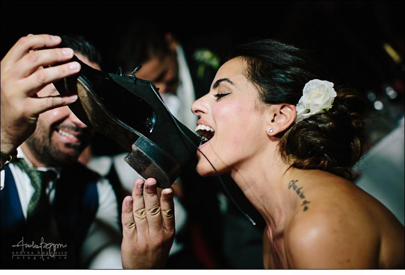 sposa beve scarpa matrimonio paradiso manu noli