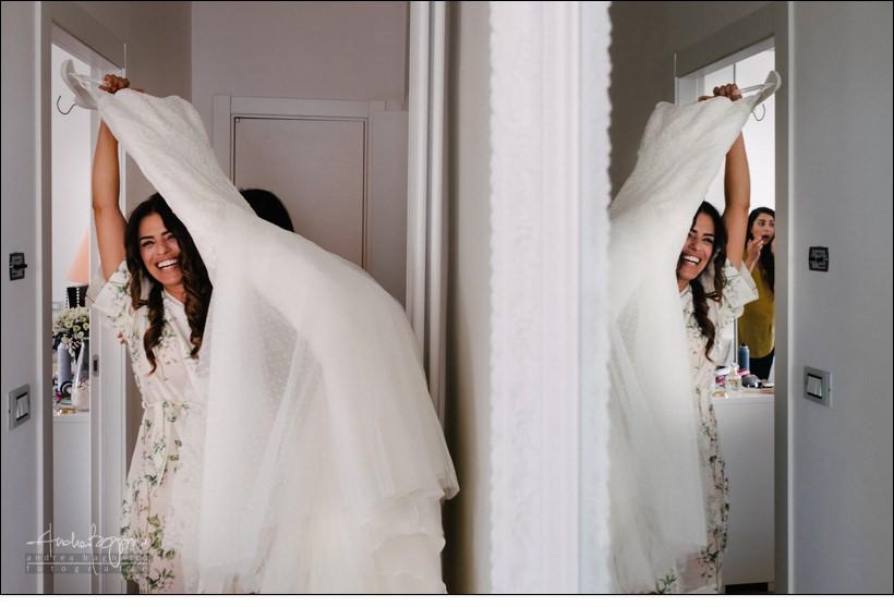 dettagli abito sposa matrimonio genova