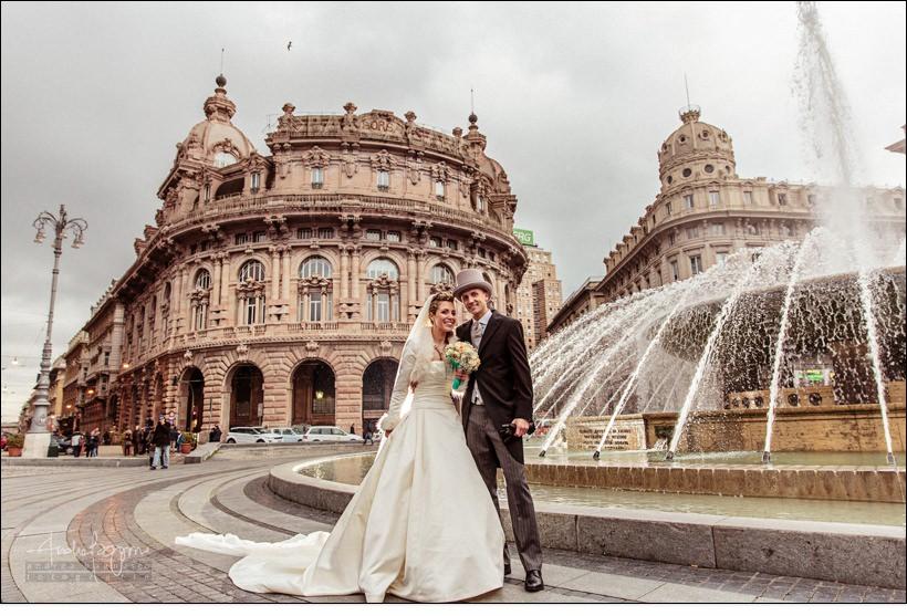 sposi matrimonio genova piazza de ferrari