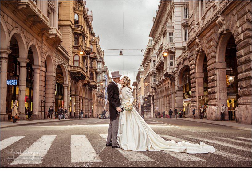 sposi matrimonio genova via xx settembre