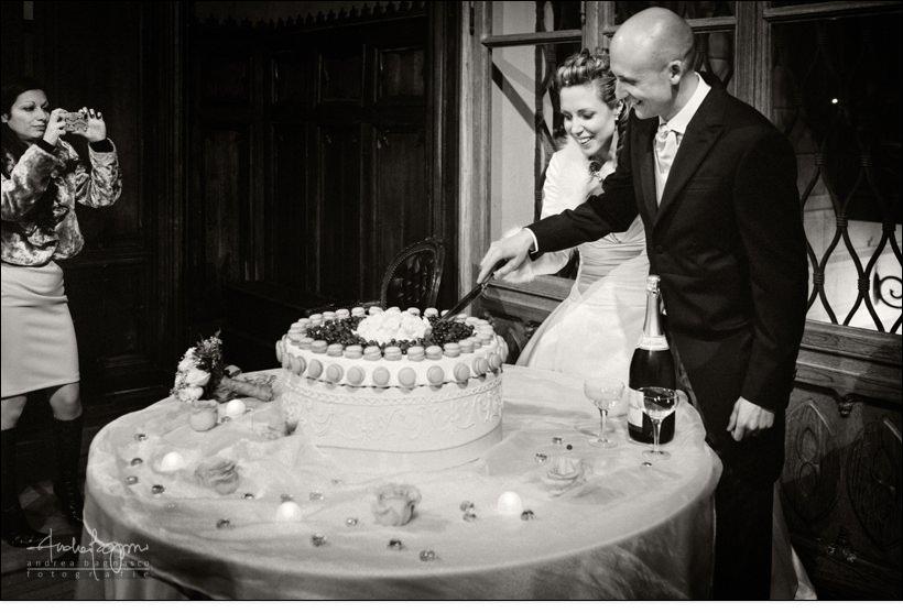 taglio torta matrimonio villa serra
