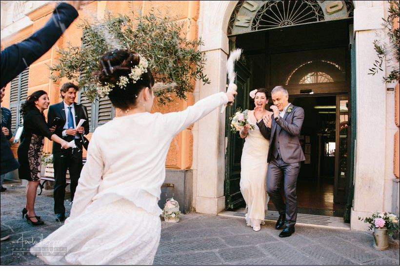 lancio riso matrimonio camogli sarah tognetti