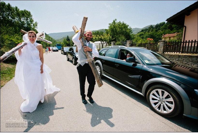 scherzi sposi matrimonio savona