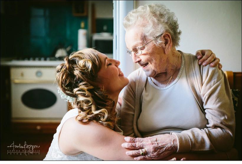 emozioni sposa nonna