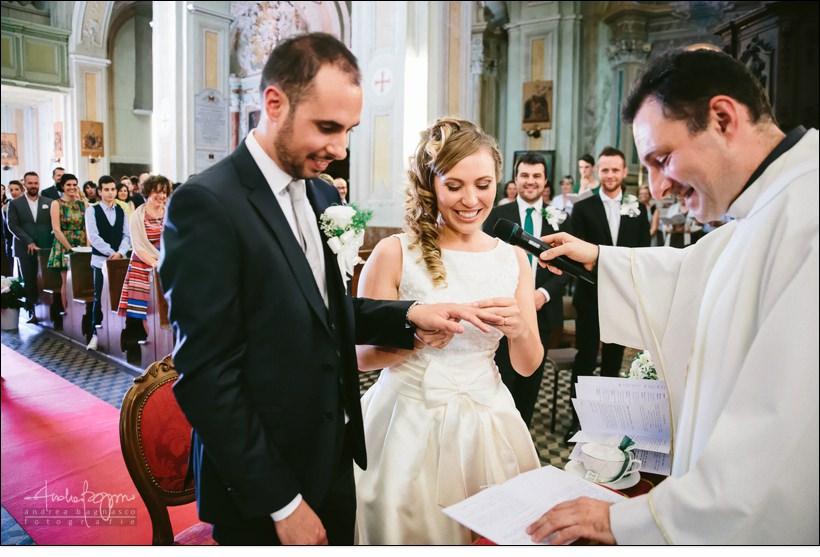 scambio anelli matrimonio