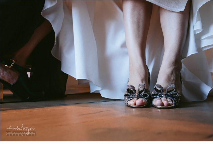 dettaglio scarpe matrimonio sposa