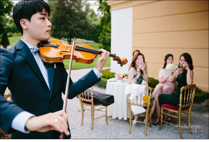 violin player luxury wedding