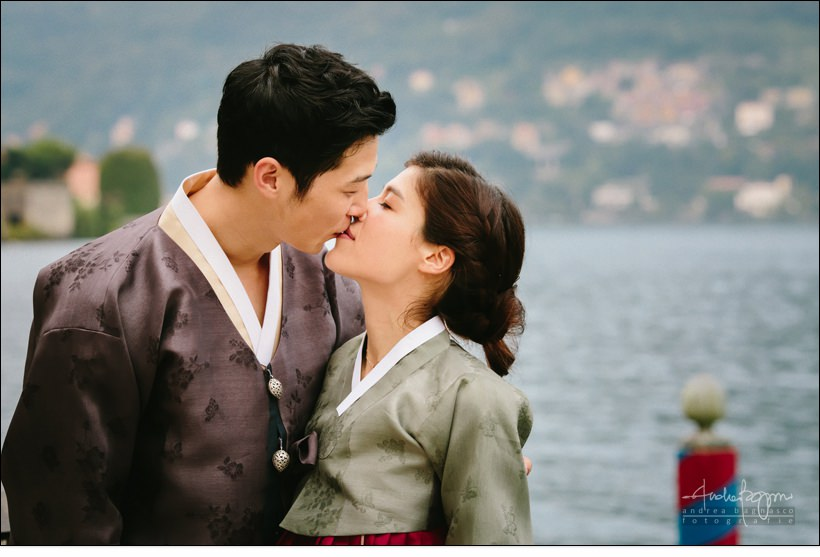 korean wedding lake como