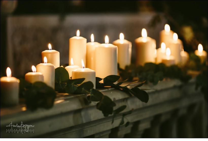 dettaglio candele chiesa matrimonio