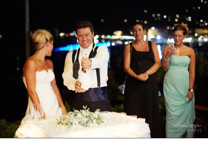 taglio torta matrimonio Hotel Continental