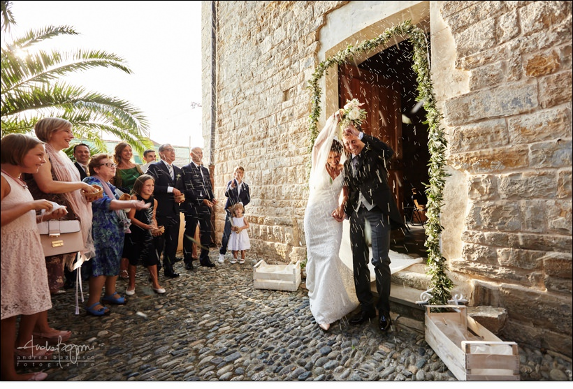 rice newly weds italy wedding