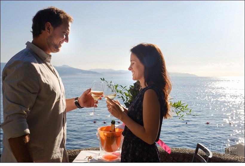 brindisi fidanzamento Portofino