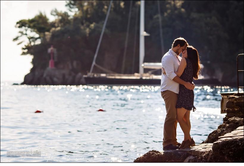 fidanzamento a Portofino