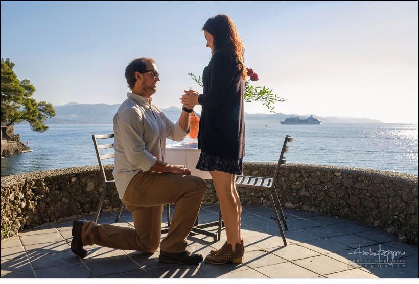 proposta di matrimonio Portofino