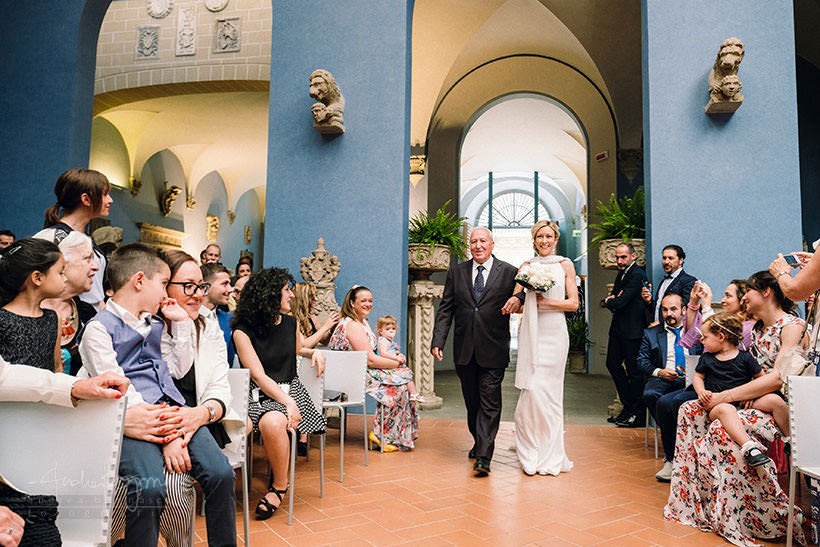bride processional wedding firenze