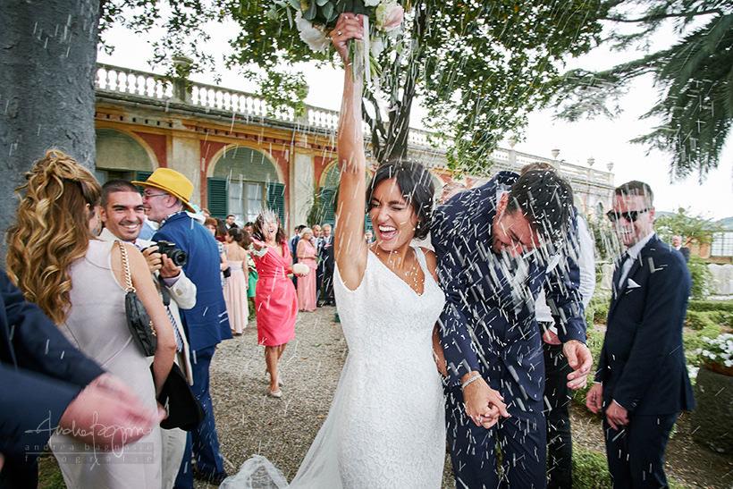 lancio riso matrimonio villa faraggiana