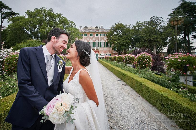 foto romantica sposi matrimonio