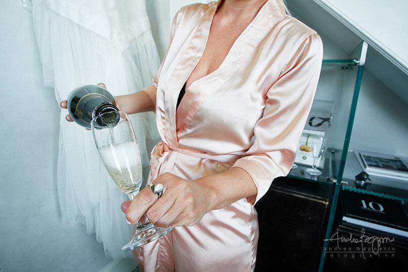 champagne Villa la Vedetta wedding