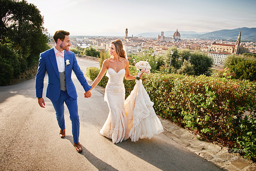 bride groom Firenze view