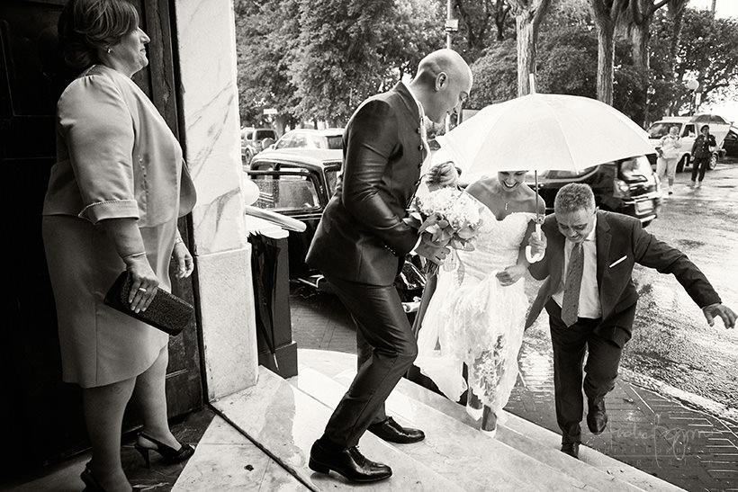 reportage matrimonio con pioggia