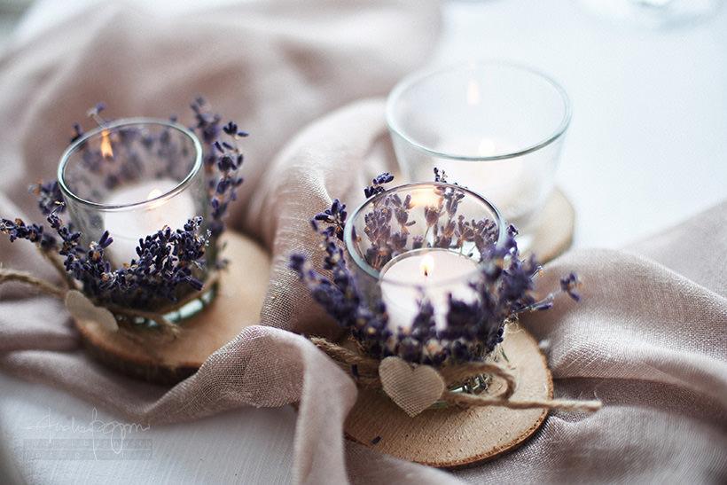dettagli candele lavanda matrimonio
