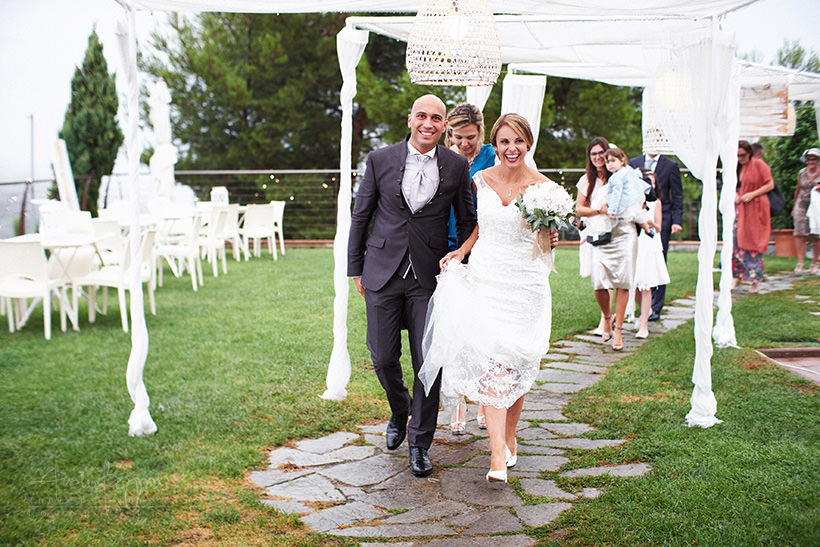 rainy wedding italian riviera