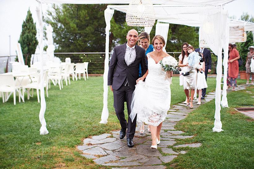 arrivo sposi matrimonio poggio dei gorleri