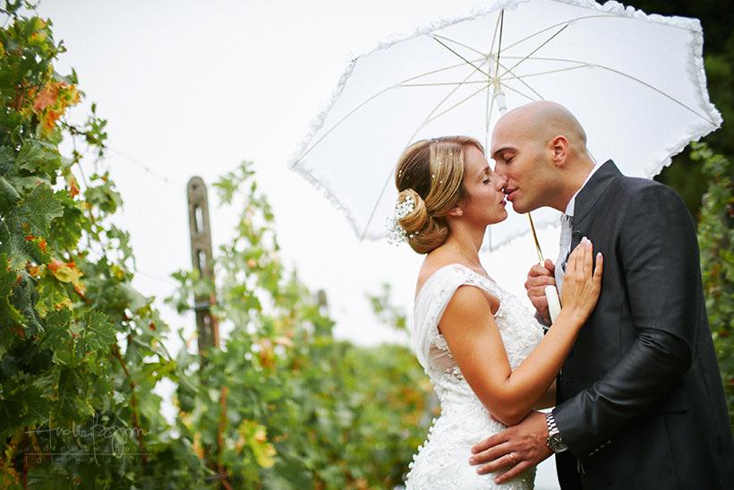 rainy wedding italy