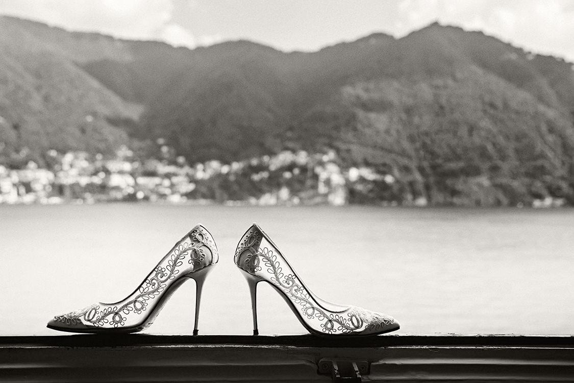 scarpe da sposa matrimonio lago di como