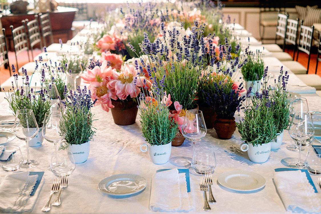 idea fiori tavola matrimonio