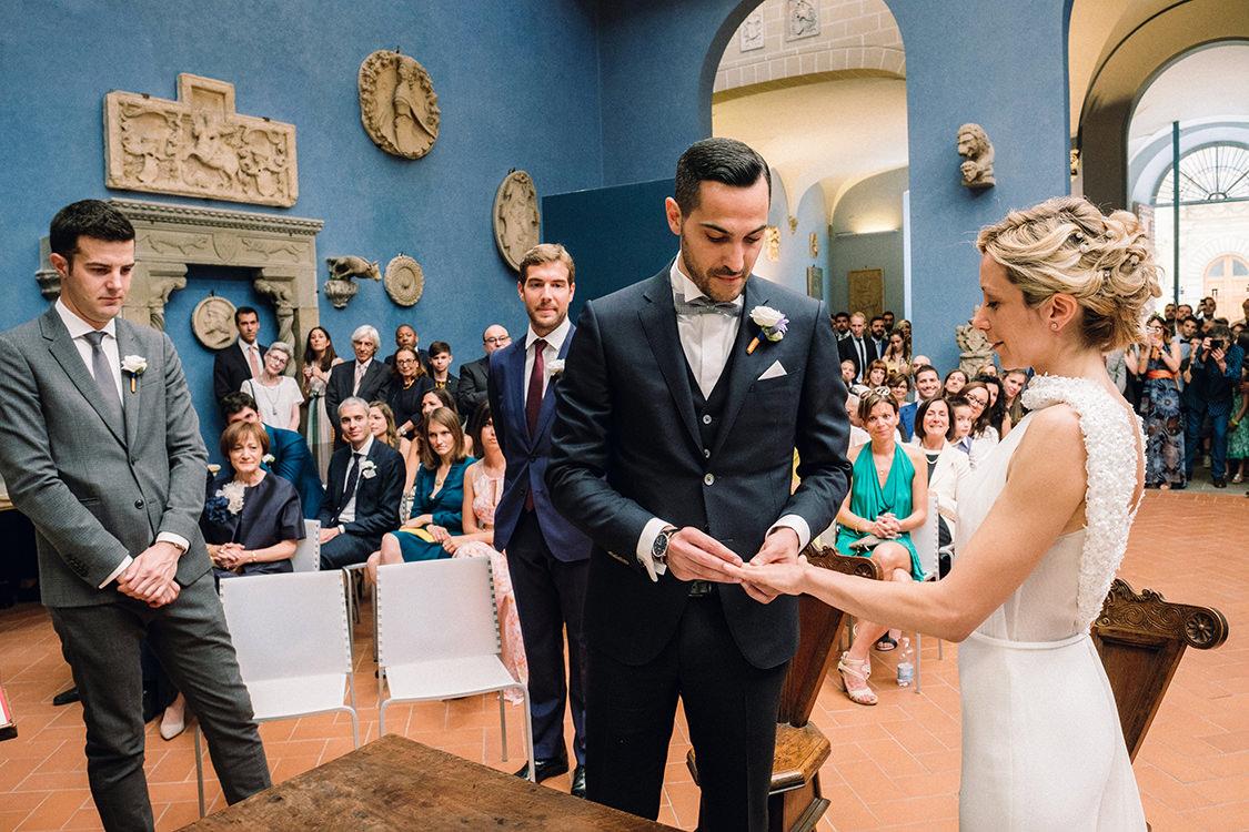 scambio degli anelli matrimonio firenze