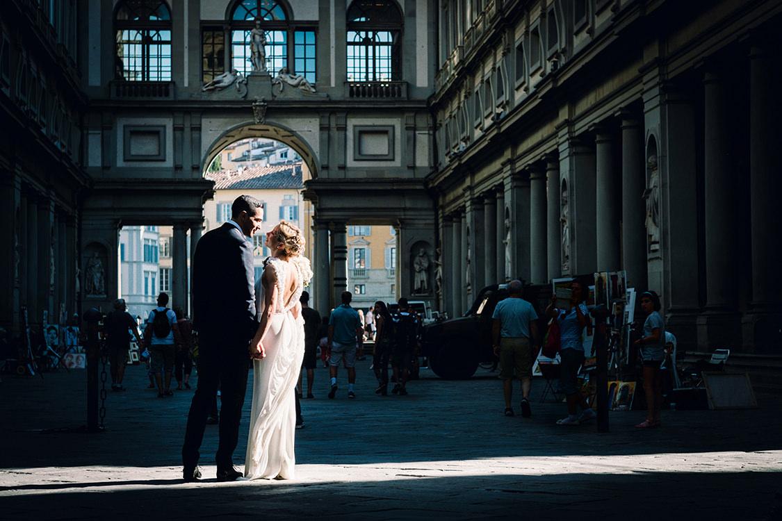wedding firenze uffizi gallery