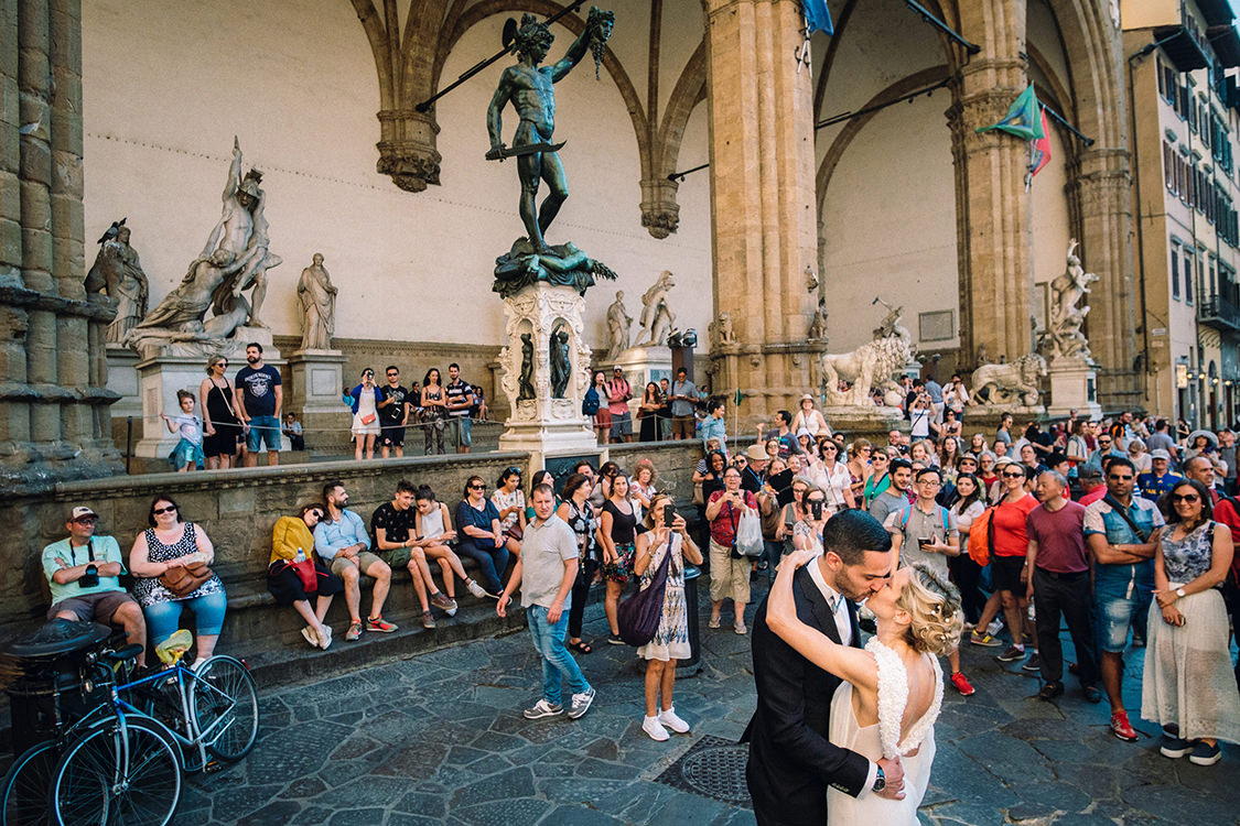florence wedding piazza della signoria
