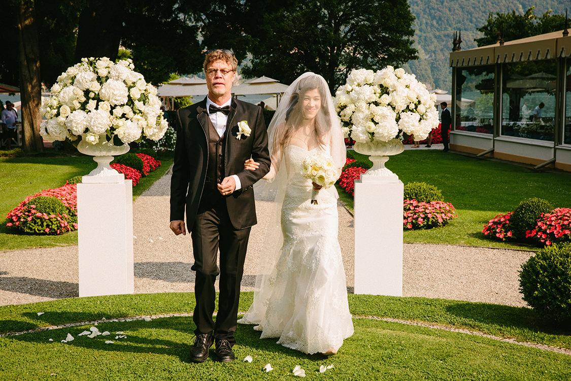 bride in villa d'este