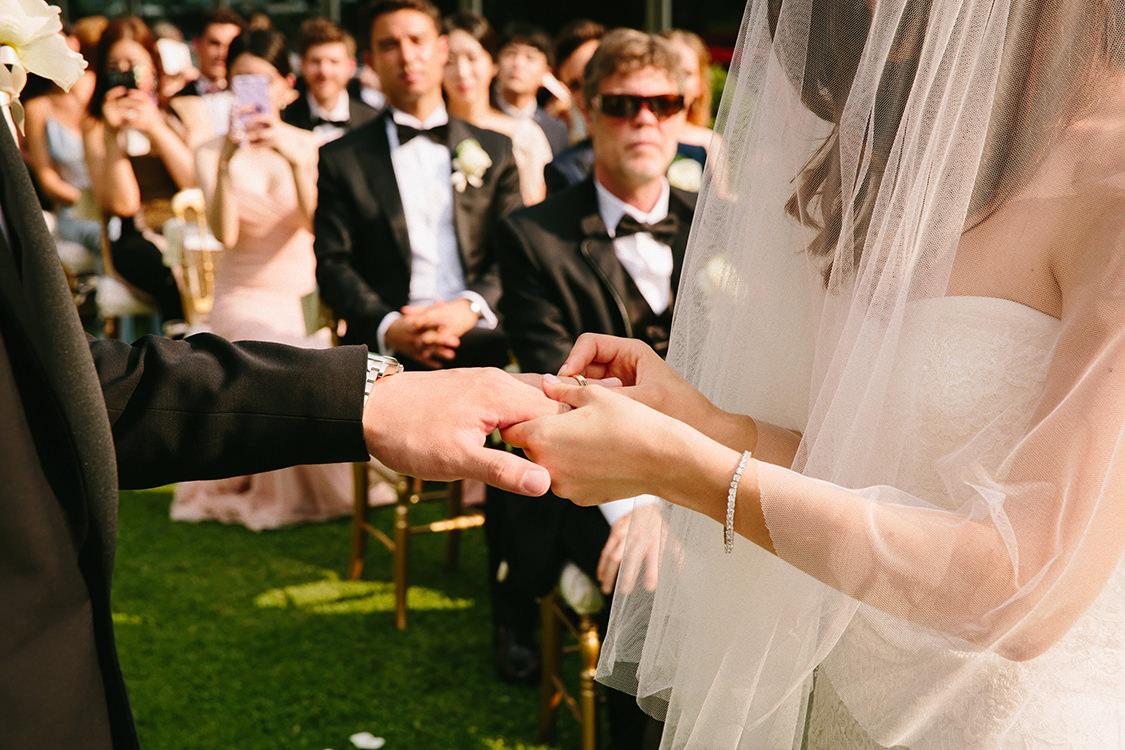 scambio degli anelli matrimonio villa d'este