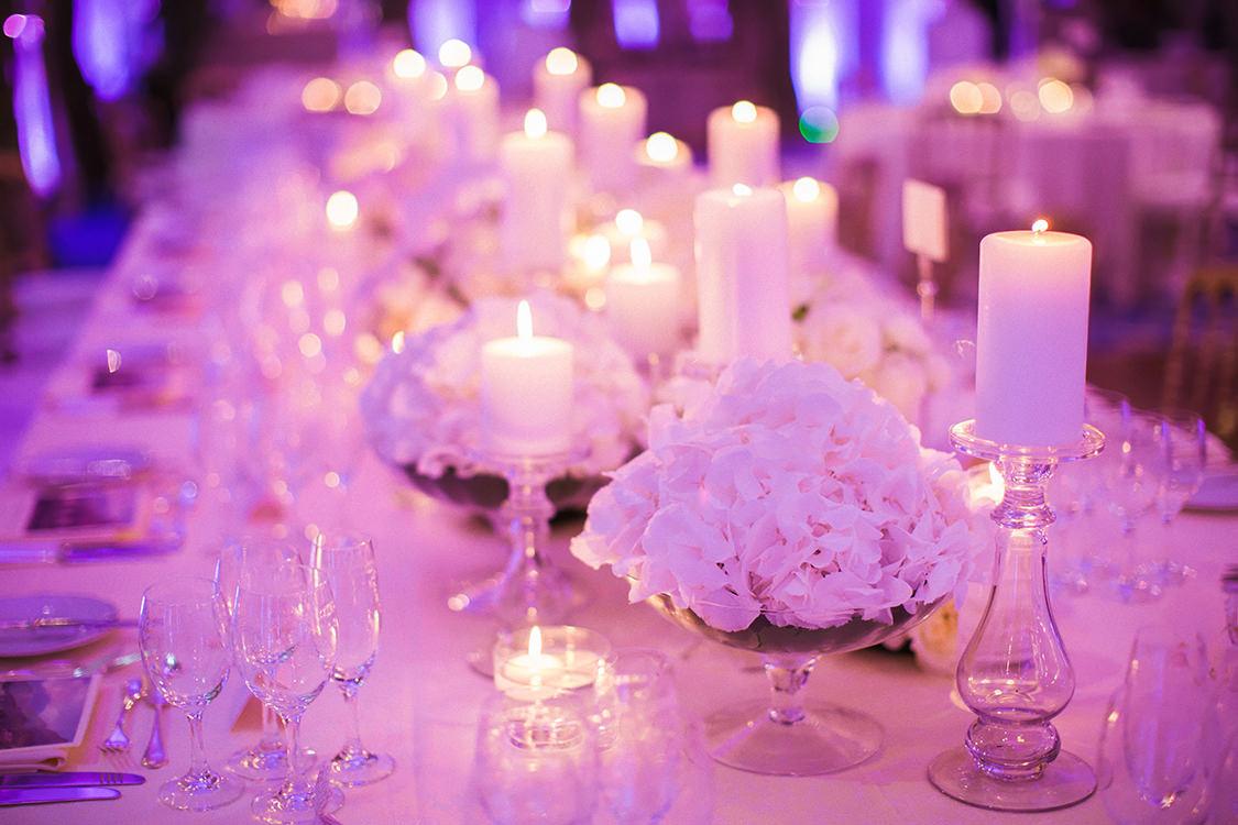 mise en place villa d'este wedding