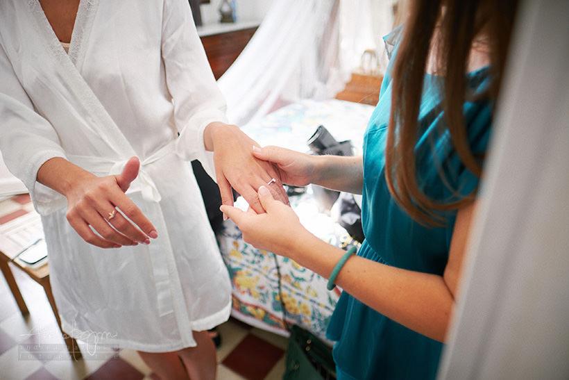 anello di fidanzamento sposa
