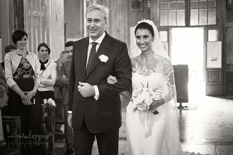 ingresso sposa matrimonio zoagli