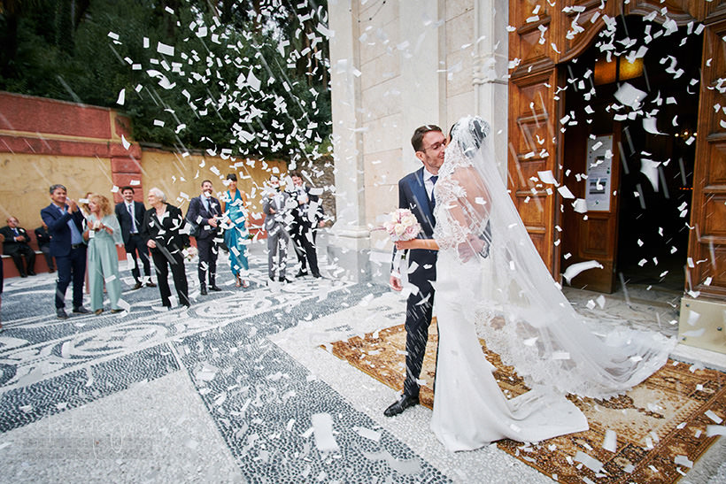 uscita sposi matrimonio zoagli